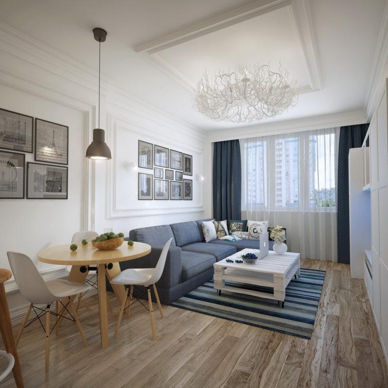 Гостиная в скандинавском стиле (4)