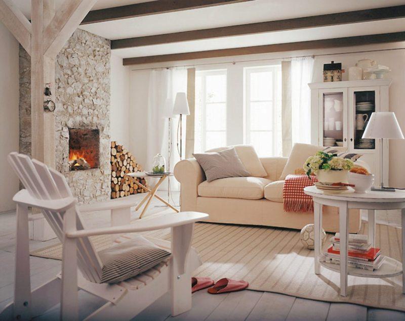 Гостиная в скандинавском стиле (46)