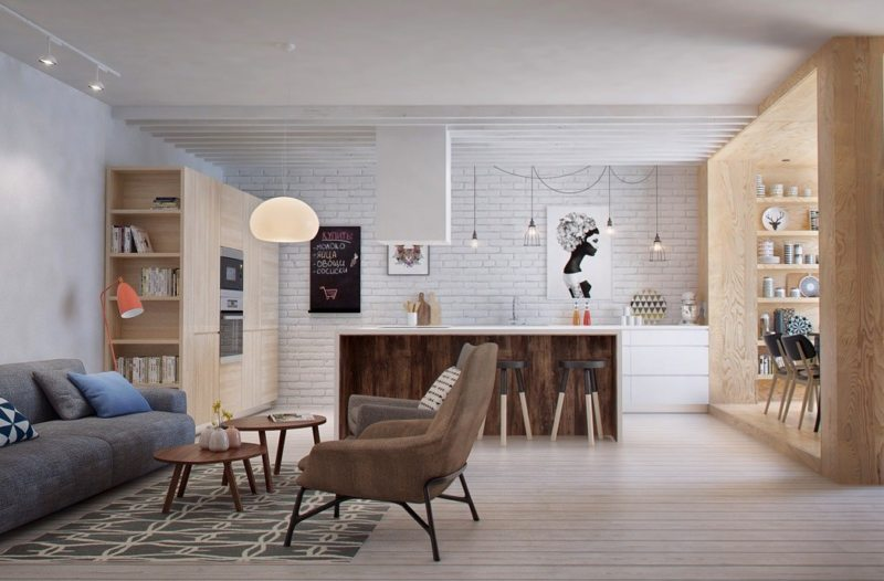 Гостиная в скандинавском стиле (5)