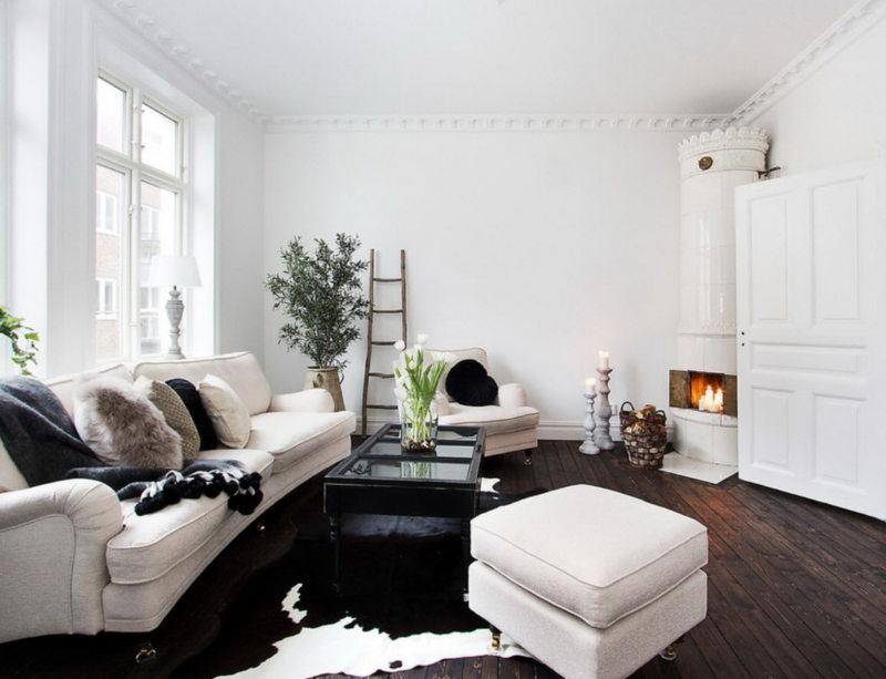 Гостиная в скандинавском стиле (51)