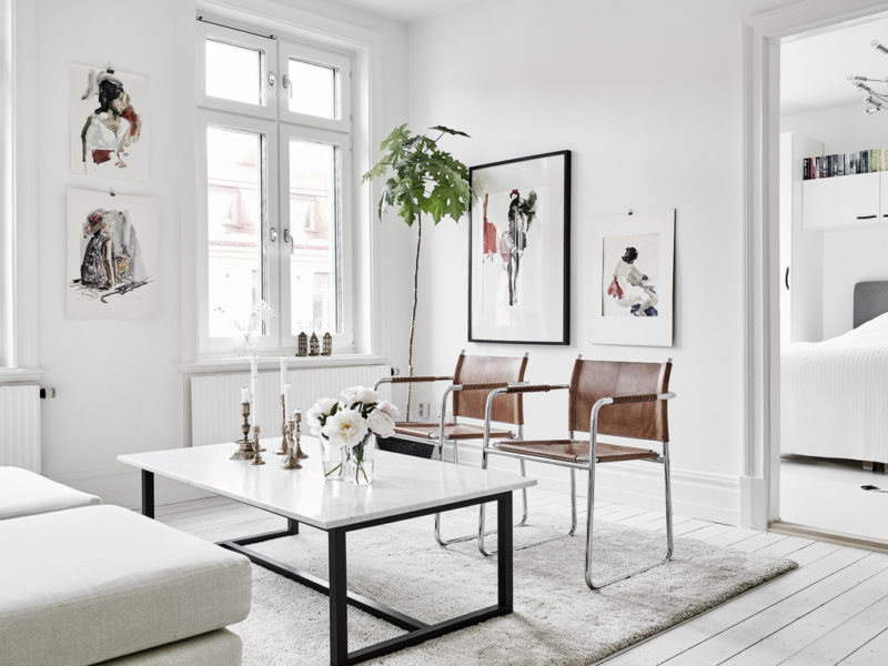Гостиная в скандинавском стиле (53)