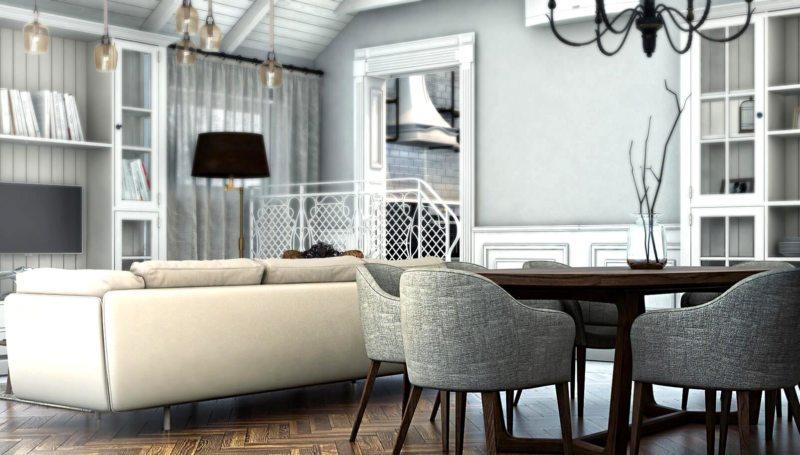 Гостиная в скандинавском стиле (58)