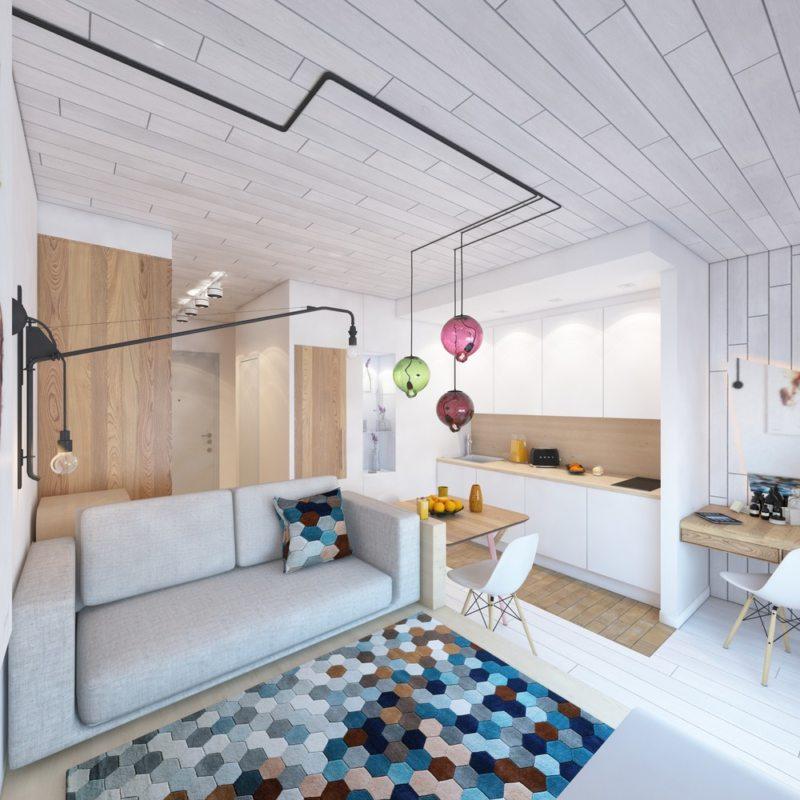 Гостиная в скандинавском стиле (9)