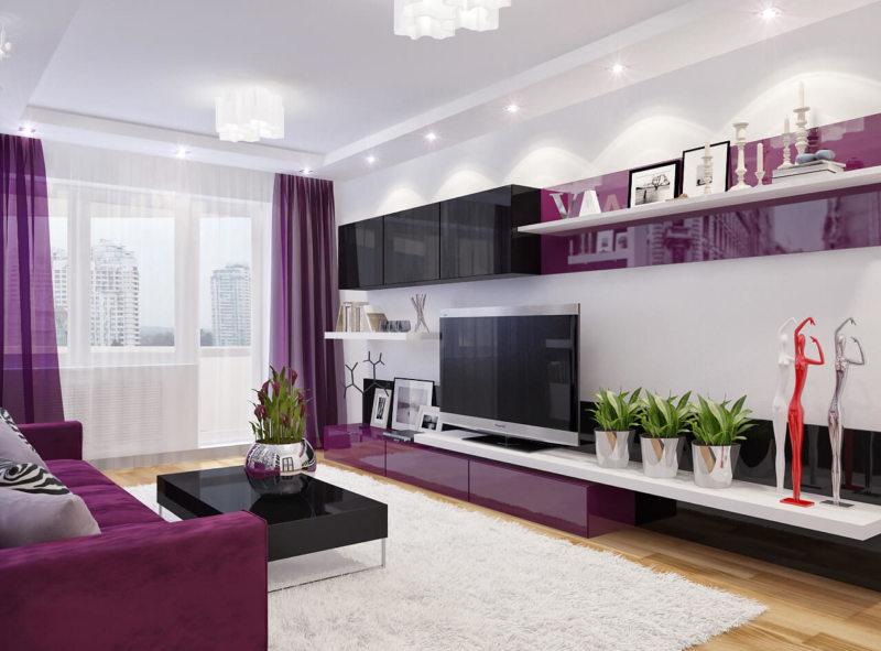 Гостиная в стиле модерн (35)