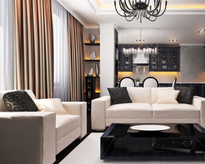 Гостиная в стиле модерн (45)