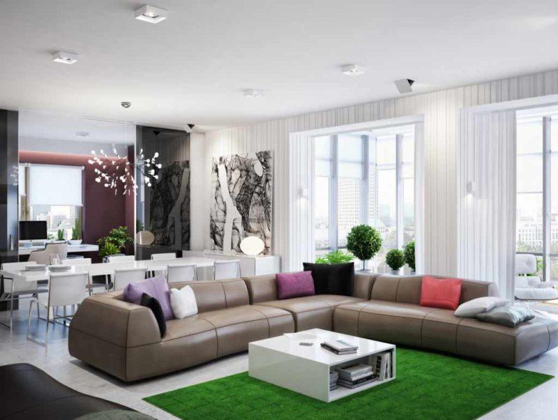 Гостиная в стиле модерн (60)