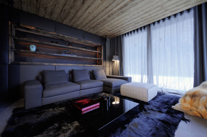 Гостиная в стиле шале (7)