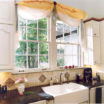 Kitchen with a sink under the window (17)