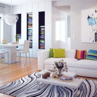 Ковер в гостиную — обзор необычных вариантов оформления дизайна (55 фото)