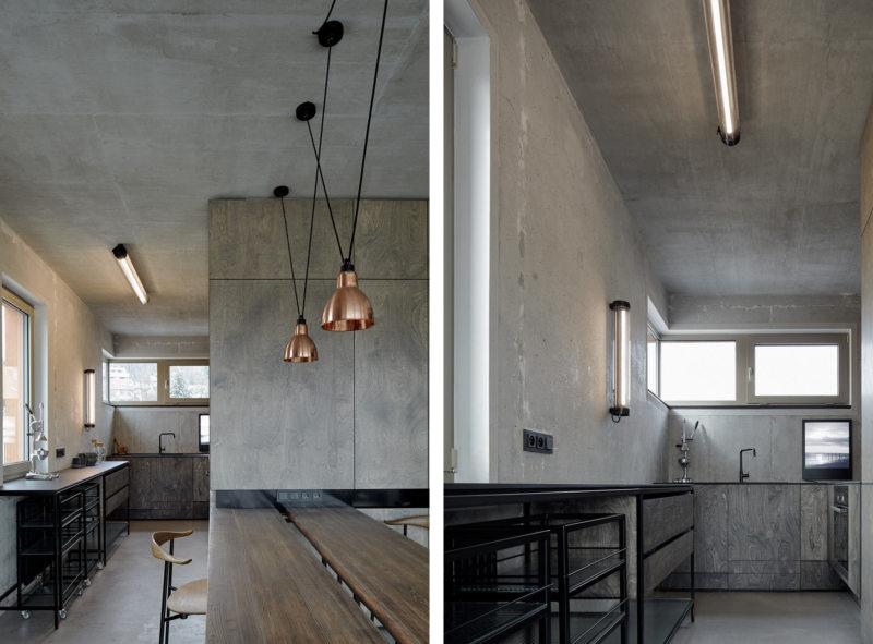 Кухня с мойкой под окном (3)