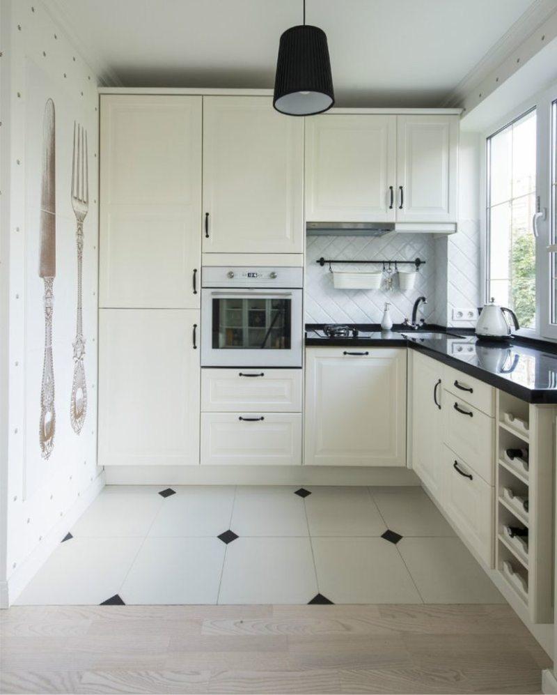Кухня с мойкой под окном 5 (12)