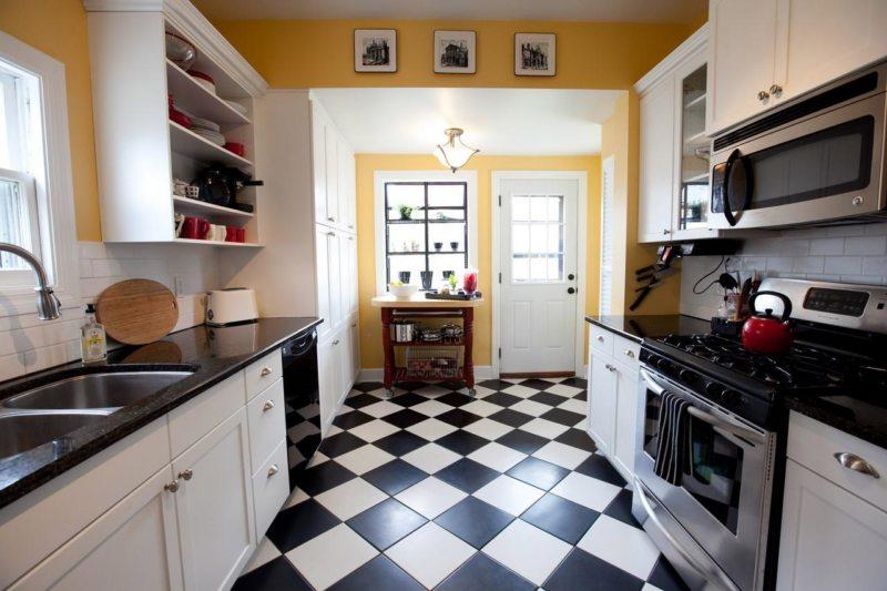 Кухня с мойкой под окном 5 (14)