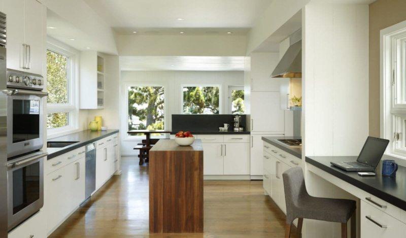 Кухня с мойкой под окном 5 (2)