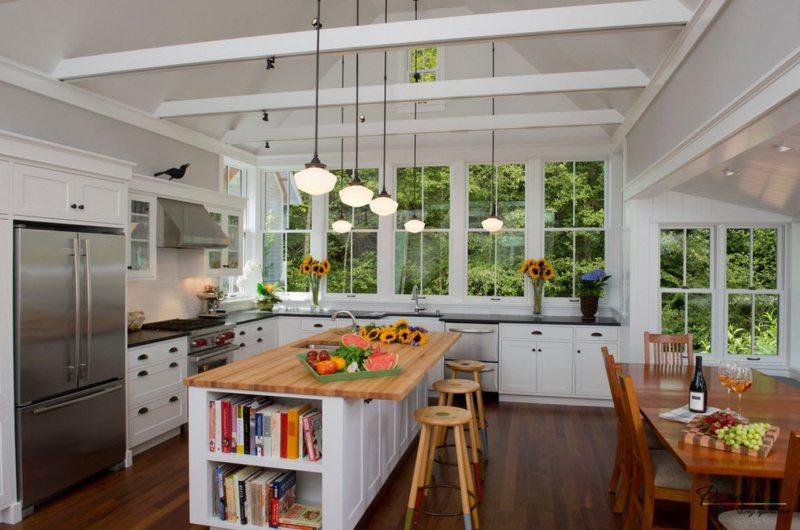 Кухня с мойкой под окном 5 (6)