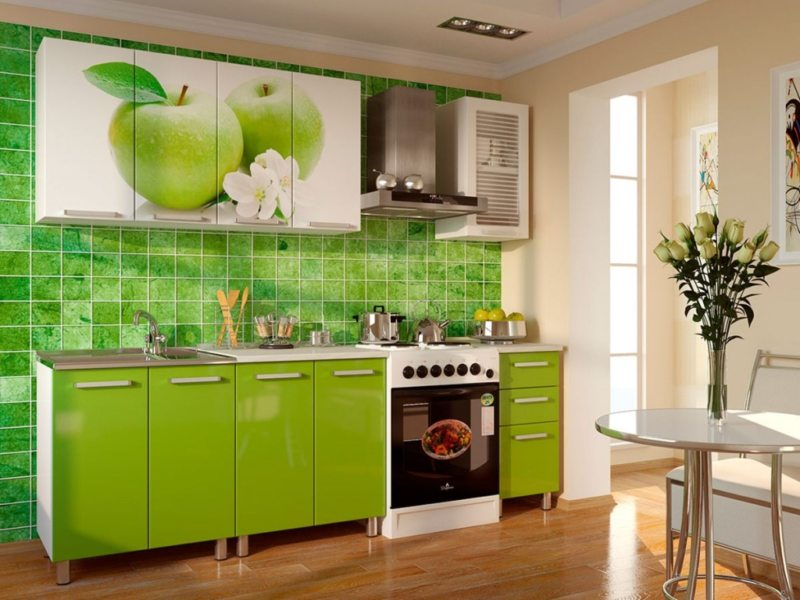 Кухня салатового цвета (10)