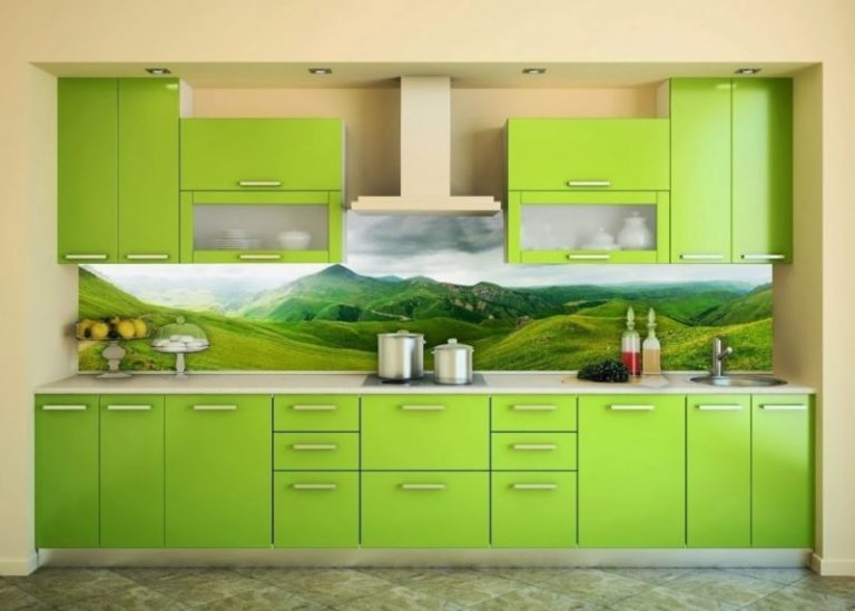 Зеленые фартуки для кухни фото