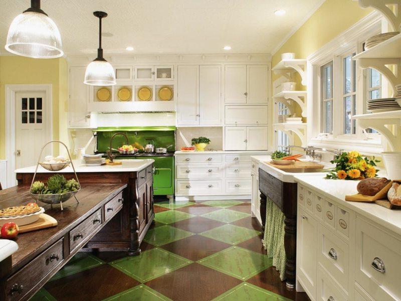 Кухня салатового цвета (30)