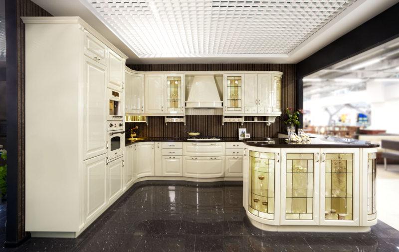 Кухня цвета слоновой кости (10)