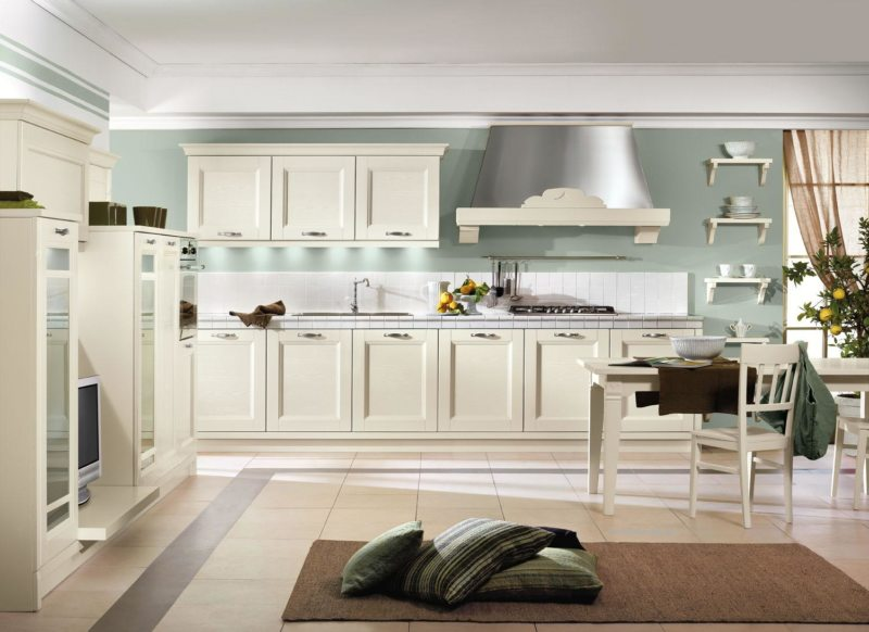 Кухня цвета слоновой кости (21)