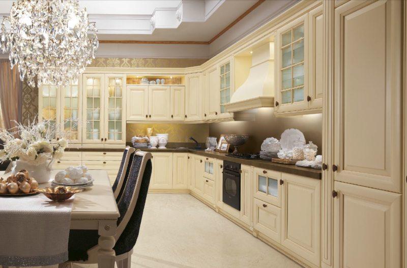 Кухня цвета слоновой кости (24)