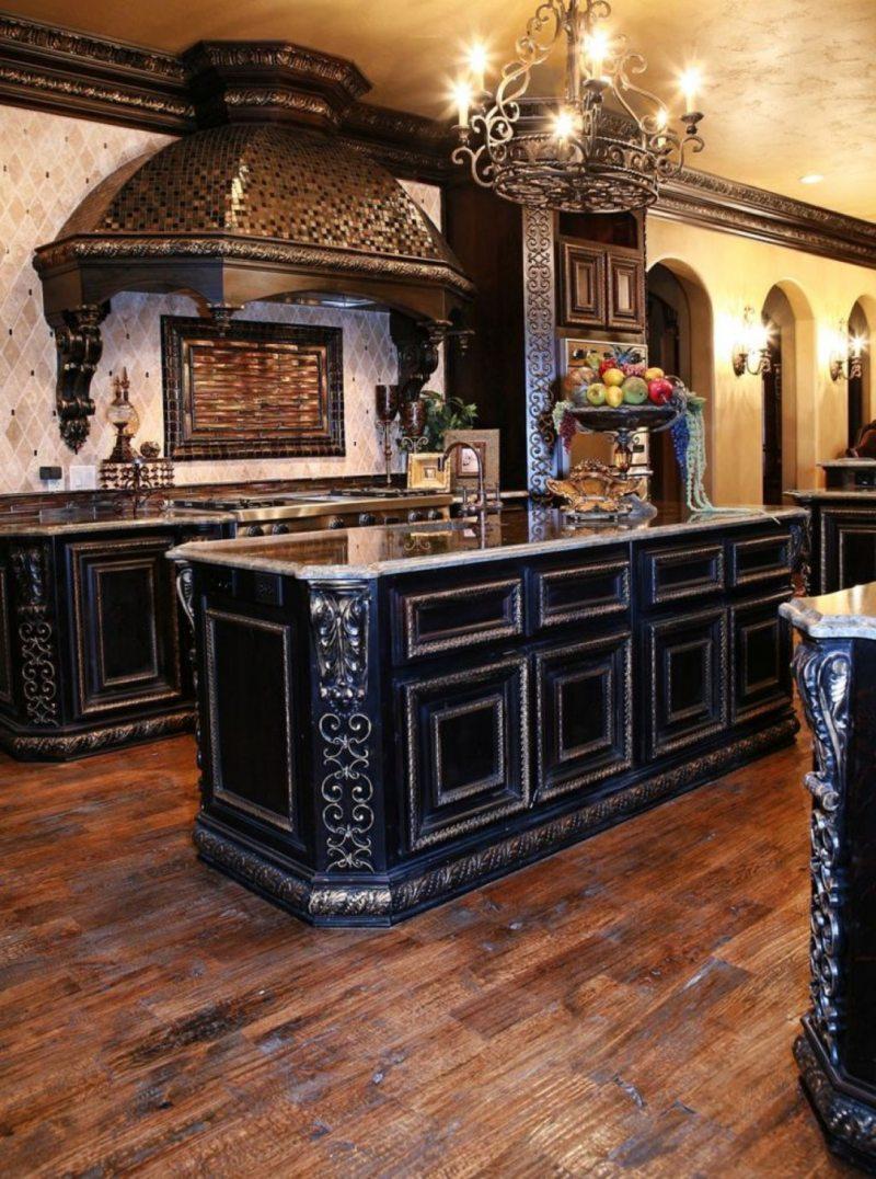 Кухня в готическом стиле (10)