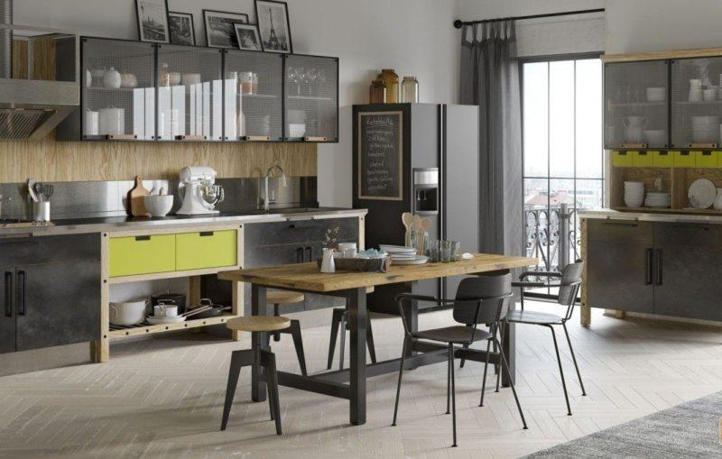 кухня в стиле лофт 105 фото необычного оформления дизайна