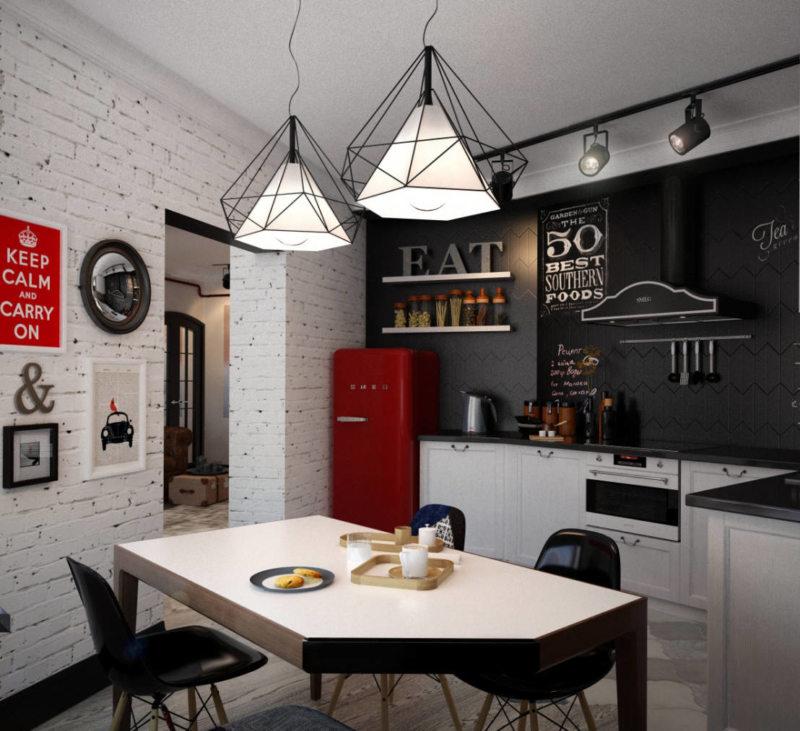 Кухня с стиле лофт своими руками 79