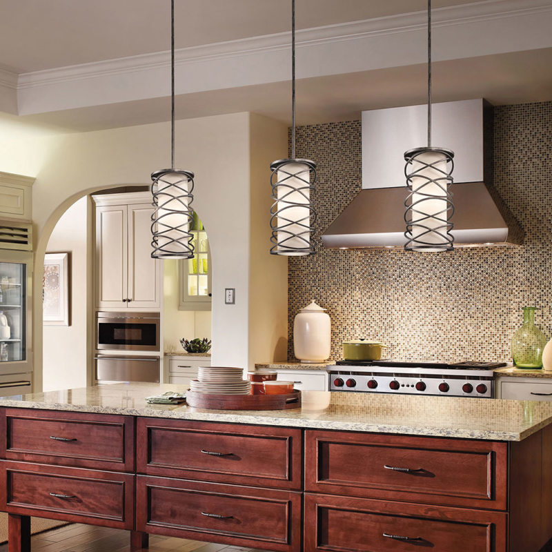 Lighting in the kitchen (16)