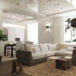 Натяжные потолки в гостиной (10)