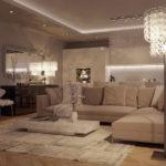 Натяжные потолки в гостиной (12)