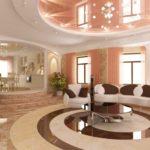 Натяжные потолки в гостиной (2)