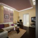 Натяжные потолки в гостиной (33)