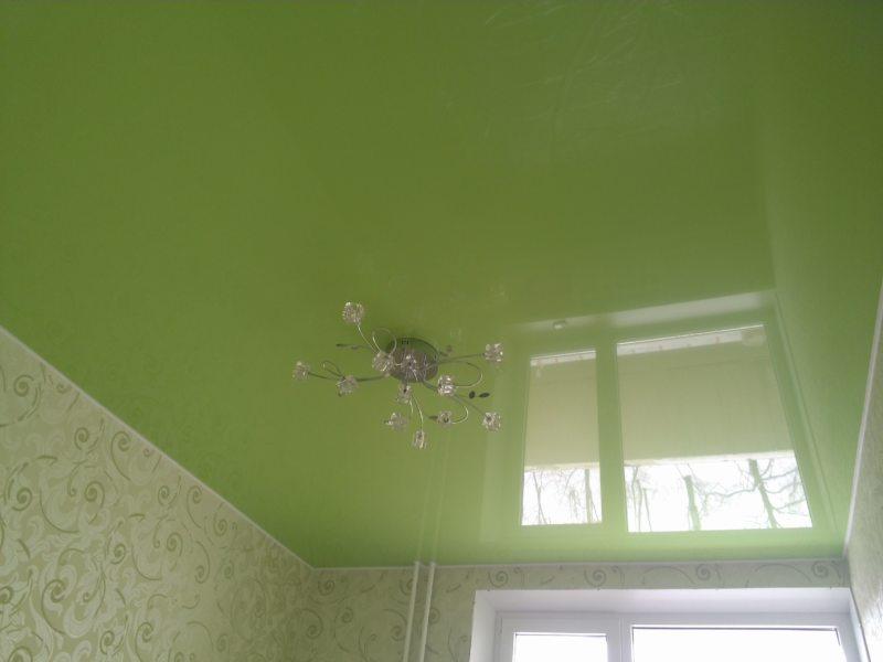 Натяжные потолки в гостиной (45)