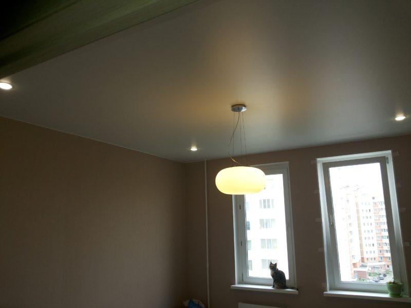 Натяжные потолки в гостиной (48)