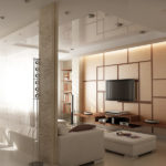 Натяжные потолки в гостиной (5)
