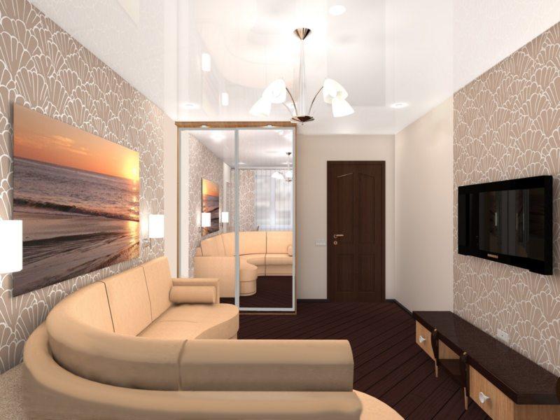 Натяжные потолки в гостиной (57)