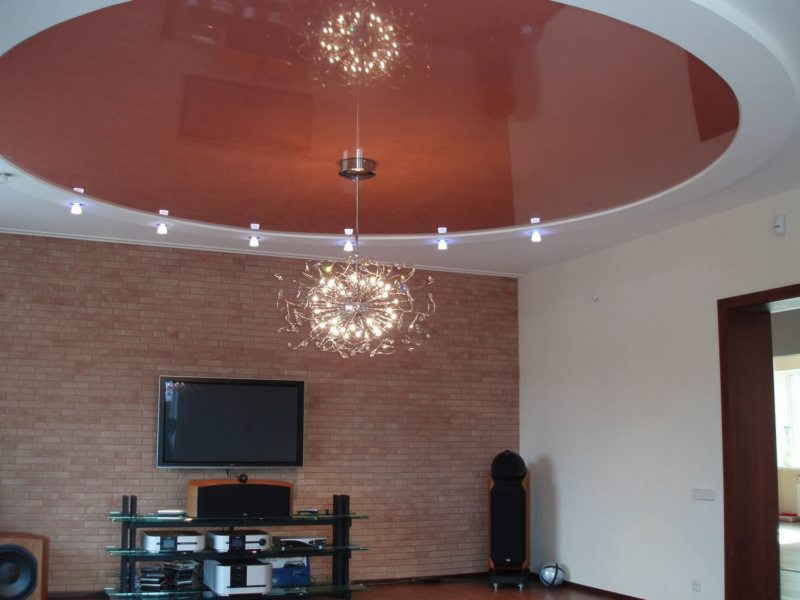 Натяжные потолки в гостиной (9)