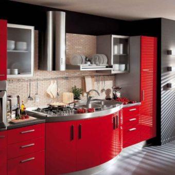 Красная кухня — как оформить яркий дизайн на кухне? 80 фото-идей!