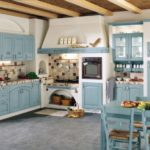 The kitchen in Greek style (11)