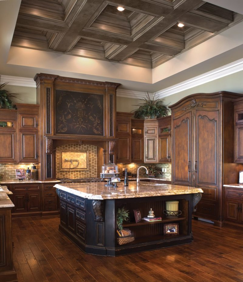 The kitchen is in the Gothic style (1)