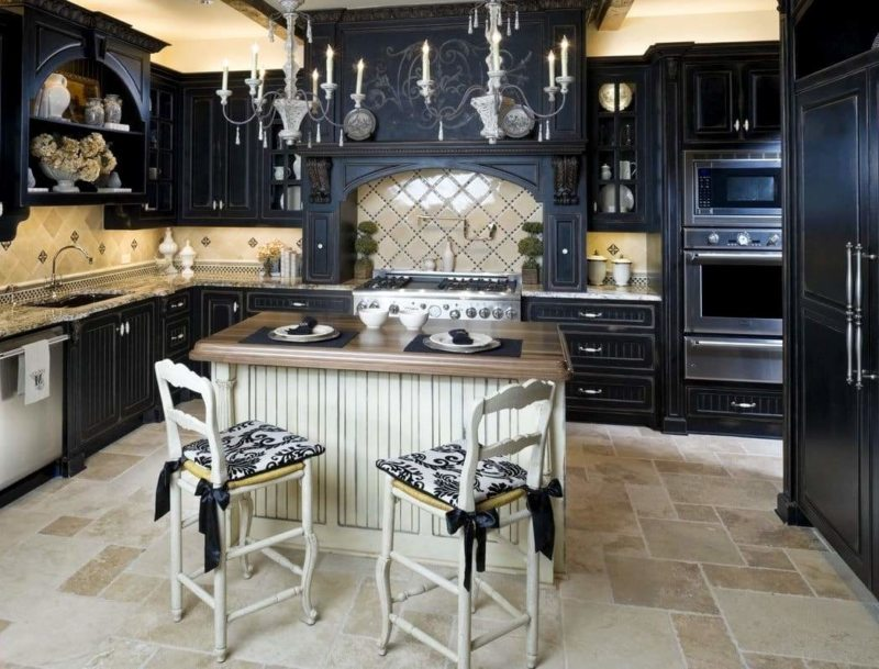 The kitchen is in the Gothic style (26)