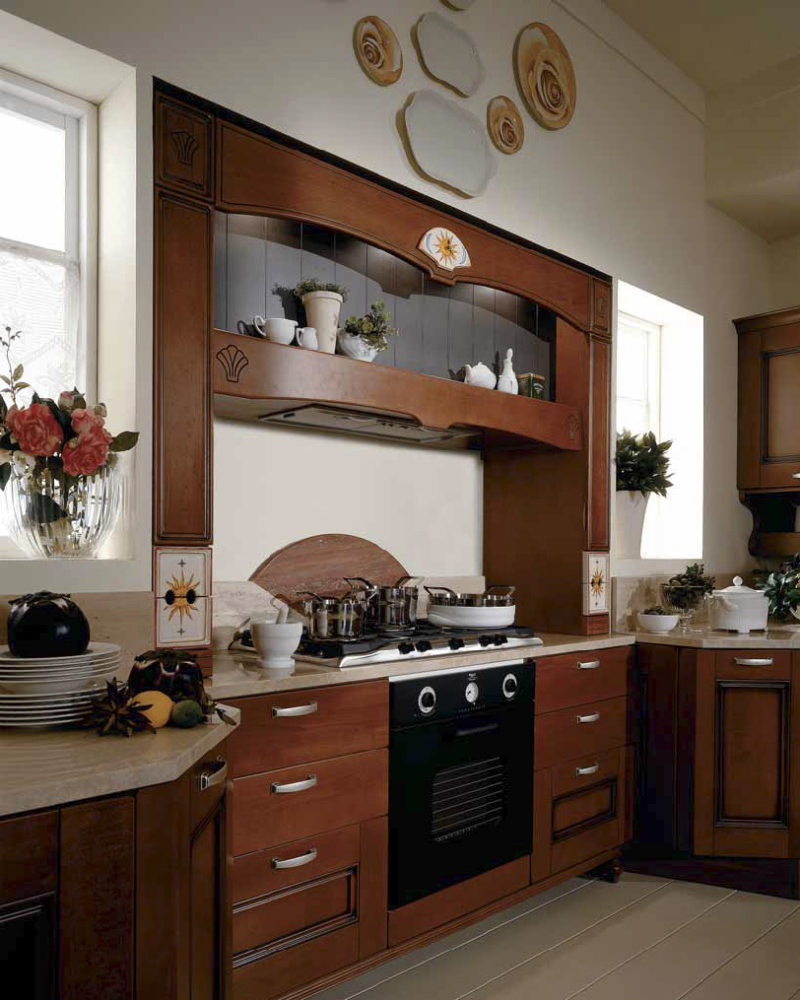The kitchen is in the Gothic style (9)