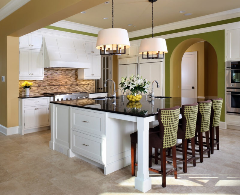 The kitchen is in the Gothic style