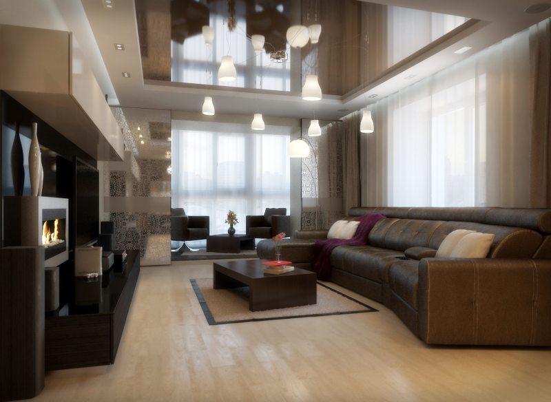 гостиная с балконом (15)