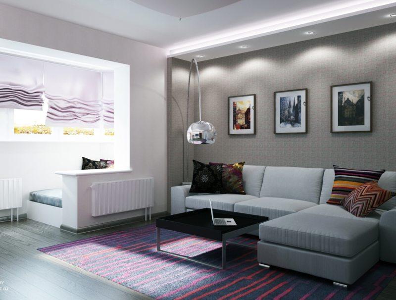 гостиная с балконом (33)