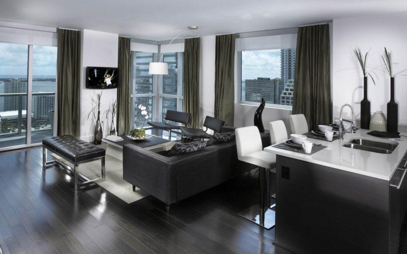 гостиная в стиле хай тек (33)