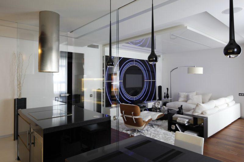 гостиная в стиле хай тек (40)