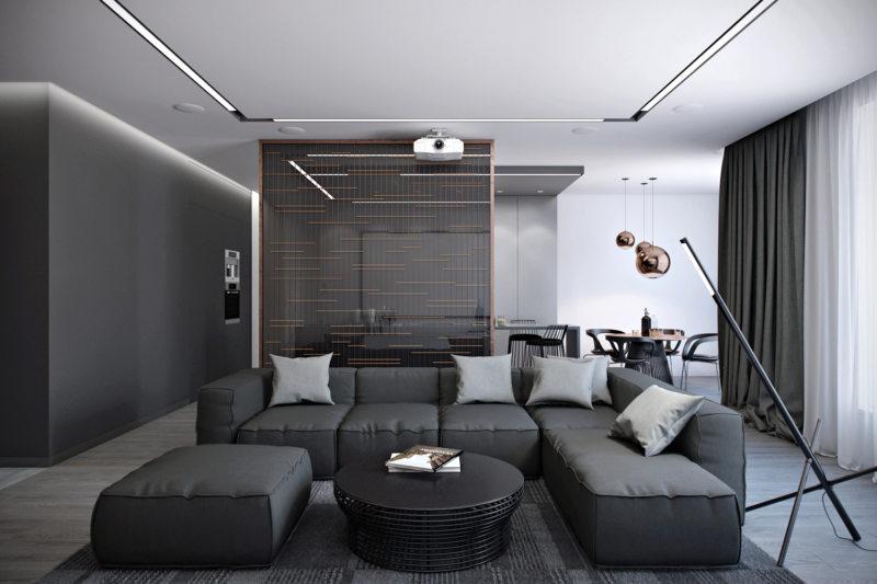 гостиная в стиле хай тек (47)