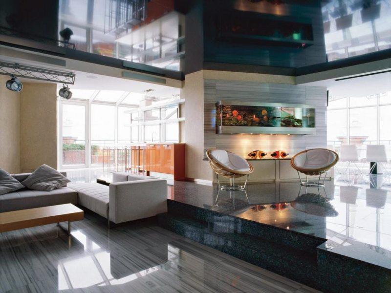 гостиная в стиле хай тек (49)