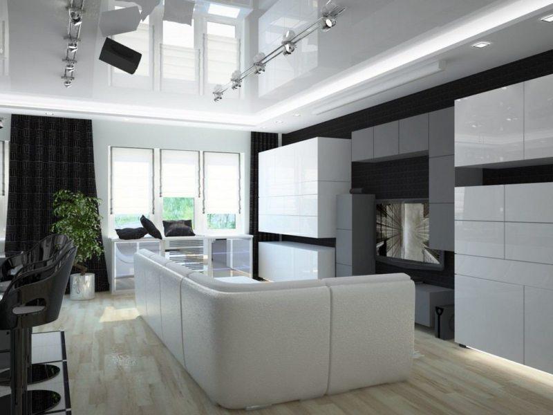 гостиная в стиле хай тек (56)